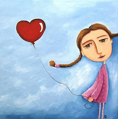 Lonely Girl Art Print