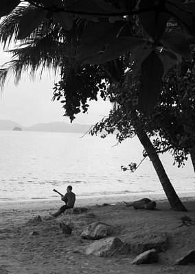 Lonely Guitarist Art Print by Kaleidoscopik Photography