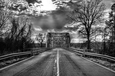 Photograph - Lonely Highways Black And White by JC Findley