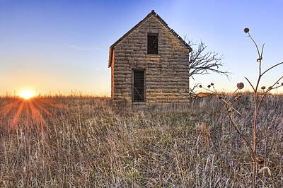 Prairie Sunset Wall Art - Photograph - Lonely Homestead by Jill Van Doren Rolo