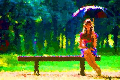 Painting - Lonely In The Rain by Samuel Majcen