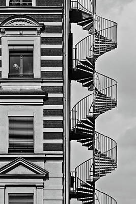 Stairs Photograph - Lonely Man by Christian M?ller