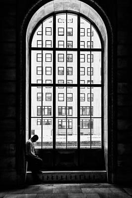 Arched Window Wall Art - Photograph - Lonely Man by Massimo Della Latta