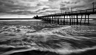 Photograph - Lonely Man On The Pier by Ryan Weddle