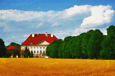 Pastoral Digital Art - Lonely Mansion by Ayse Deniz