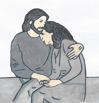 Lonely Meets God Art Print