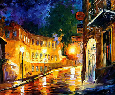 Lonely Night - Palette Knife Oil Painting On Canvas By Leonid Afremov Original
