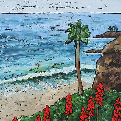 Heisler Park Painting - Lonely Palm by Nancy Goldman