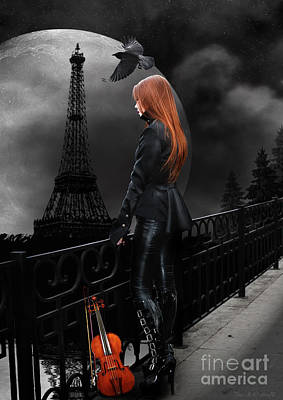 Paris Digital Art - Lonely Paris by Babette Van den Berg