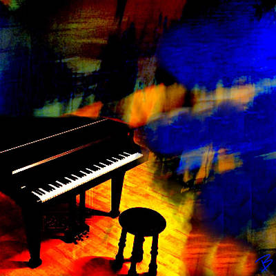 Pop Art Photograph - Lonely Piano by Barbs Popart