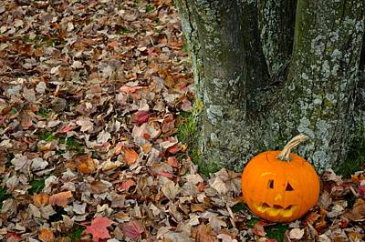 Lonely Pumpkin Art Print