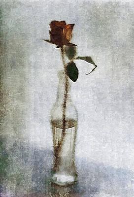 Lonely Rose Art Print
