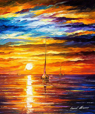 Lonely Sea 3 - Palette Knife Oil Painting On Canvas By Leonid Afremov Original