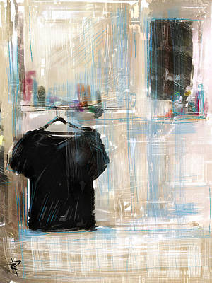 Mixed Media - Lonely Shirt by Russell Pierce