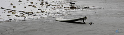 Photograph - Lonely Surfboard by Chris Thomas