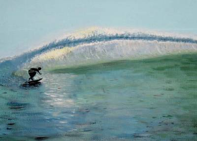 Painting - Lonely Surfer by Susan Abrams