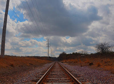 Photograph - Lonely Tracks by Daniel Ness