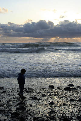 Photograph - Lonely Walk On The Rocky Beach by Martha Johnson