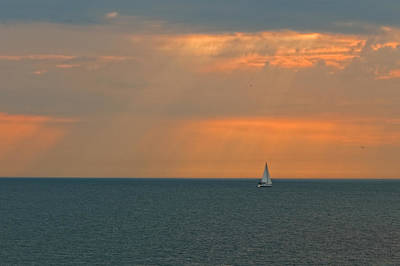 Photograph - Lonely Yacht by Peter Lakomy