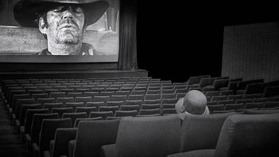 Seat Photograph - Lonely...at The Movies... by Marie-anne Stas