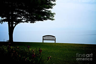 Photograph - Lonesome Bench by William Norton