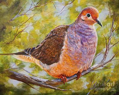 Fauna Painting - Lonesome Dove by AnnaJo Vahle