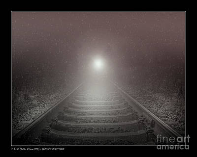Photograph - Lonesome Night Train by Pedro L Gili