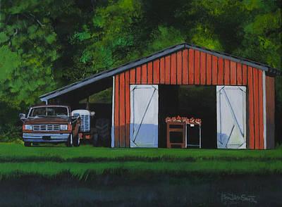 Lonesome Road Satsumas Art Print by Ben Bensen III