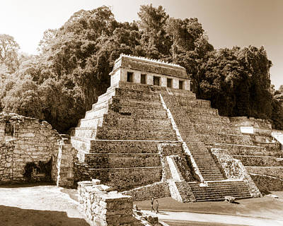 Photograph - Long Ago In Mayan Palenque by Mark E Tisdale