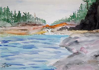 Long And Winding Portage Around The Falls Original by Troy Thomas