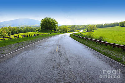 Long And Winding Road Art Print by Thomas R Fletcher