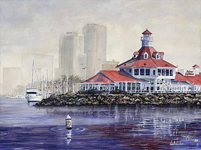 Oregon Lighthouse Painting - Long Beach by Bill Hudson