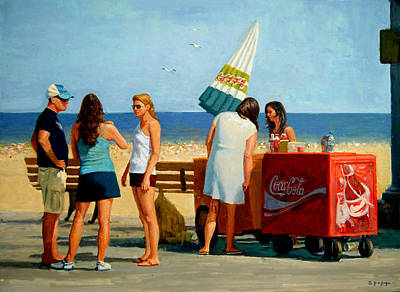 Painting - Long Beach by Mel Greifinger