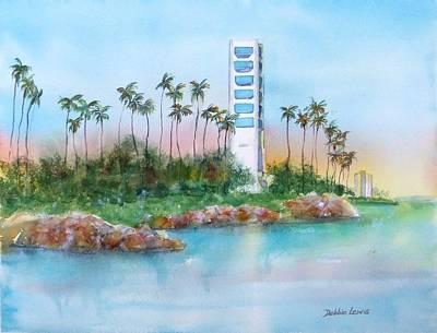 Painting - Long Beach Oil Island by Debbie Lewis