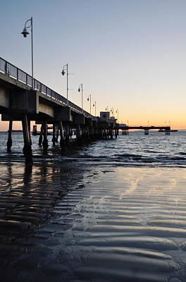 Art Print featuring the photograph Long Beach Pier by Kyle Hanson