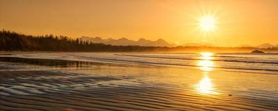 Ebbtide Photograph - Long Beach Sunrise by Allan Van Gasbeck