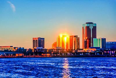 Photograph - Long Beach Sunset by Jim DeLillo