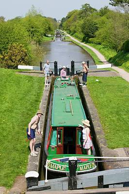 Canal Walk Photograph - Long Boat by Ashley Cooper