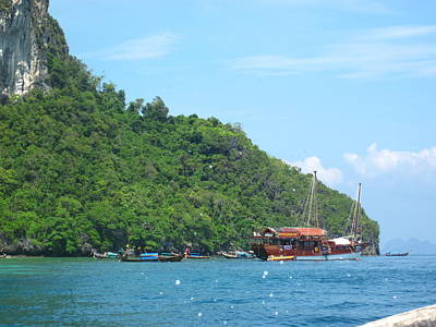 Asian Photograph - Long Boat Tour - Phi Phi Island - 0113206 by DC Photographer