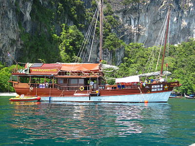 Long Boat Tour - Phi Phi Island - 0113208 Art Print