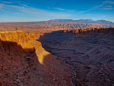Photograph - Long Canyon And The La Sal's by Greg Sagan