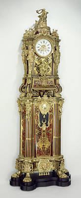 Carcass Drawing - Long-case Musical Clock Clock Movement By Jean-françois by Litz Collection