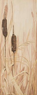 Painting - Long Cat Tails Two by Cathy Long