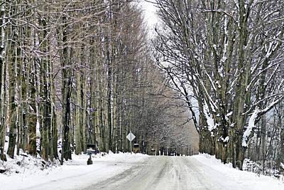 Winter Roads Photograph - Long Country Road by Deborah Benoit