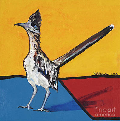 Note Card Painting - Long Distance Runner by Pat Saunders-White
