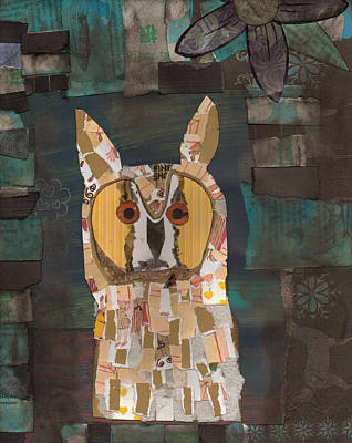Mixed Media - Long Eared Owl by Brian Fuchs