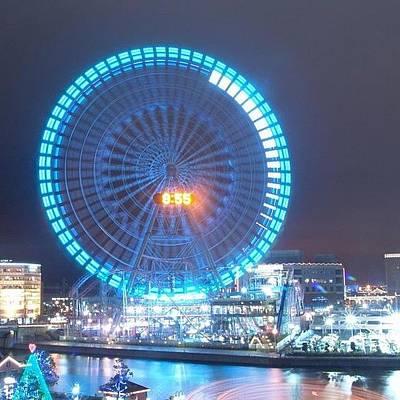 Skylines Wall Art - Photograph - Long Exposed Wheel #japan #night by Robert Stewart