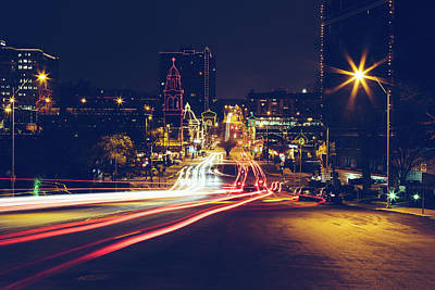 Photograph - Long Exposure Of Light Trail In City by Stephen Ozga / Eyeem
