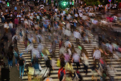 Photograph - Long Exposure Picture Of People by Artur Debat