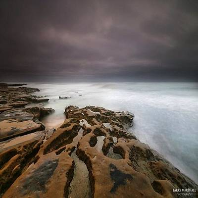 Photograph - Long Exposure Sunset On A Dark Stormy by Larry Marshall